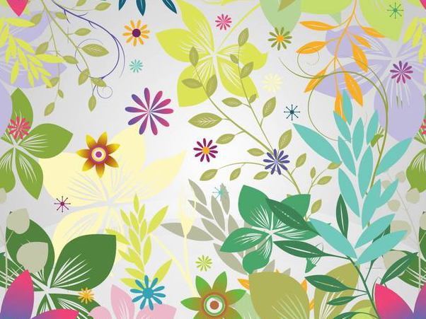 Funky Flower Garden Colorful Background - Kostenloses vector #166669