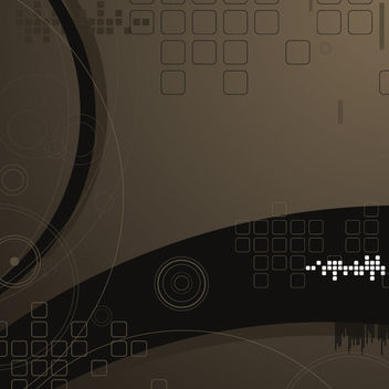 Abstract Dark Tech Background with Squares - Free vector #166709