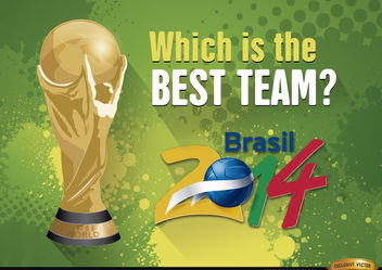 Brazil 2014 World Cup Best team - vector gratuit #166789
