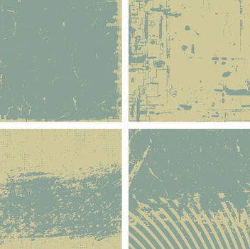 4 Grungy Vintage Backgrounds - vector gratuit #166839