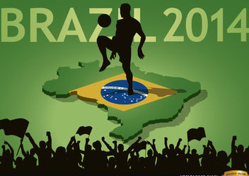 Brazil 2014 country fan crowds - бесплатный vector #166859