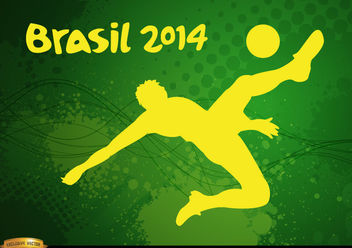 Player kicking Brasil 2014 football - vector gratuit #166879