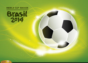 Soccer World Cup 2014 wallpaper - Free vector #166889