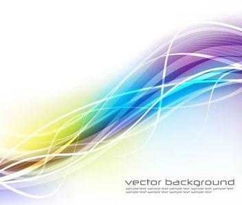Fluorescent Colorful Wavy Lines Background - vector gratuit #166899