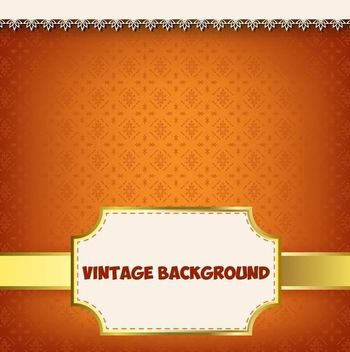 Vintage Label Floral Pattern Background - vector gratuit #166909