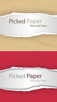 Realistic Torn Ripped Picked Paper - vector gratuit #166979