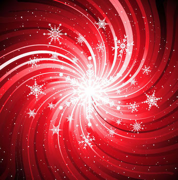 Swirling Vortex Lines with Snowflakes & Splatters - vector #166989 gratis