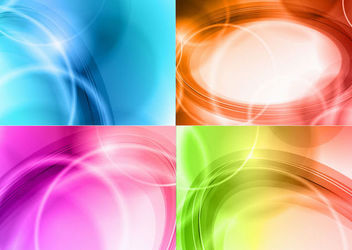 Abstract Shiny Curves Colorful Background Pack - Free vector #167039