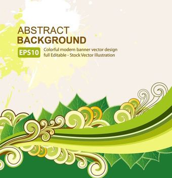 Abstract Organic Background Waves & Swirls - vector gratuit #167089
