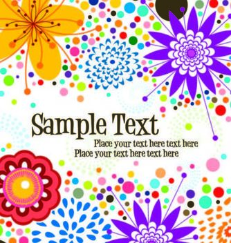 Simplistic Funky Floral Background Template - Free vector #167129