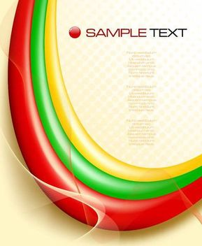 Colorful Waves with Lines and Dots Template Background - Free vector #167149
