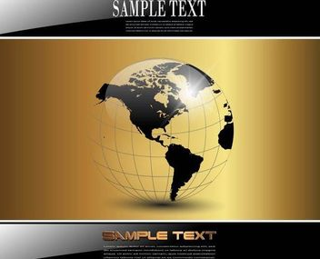 Black Golden Business Background with Globe - Free vector #167169