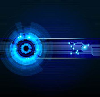 Digitech Blue Futuristic Background - Kostenloses vector #167179