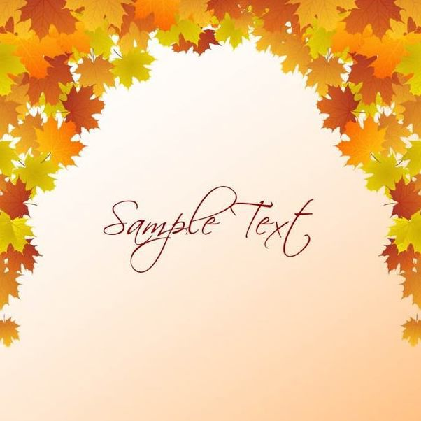 autumn leaf frame template free vector download 167219 cannypic