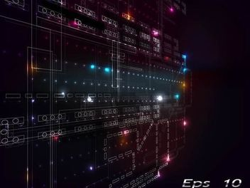 Futuristic Abstract Digital Background - vector gratuit #167319