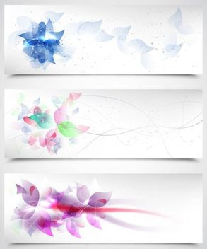 Fluorescent Artistic Floral Backgrounds - vector gratuit #167379