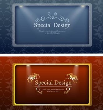2 Ornamental Banners with Lights - vector gratuit #167429