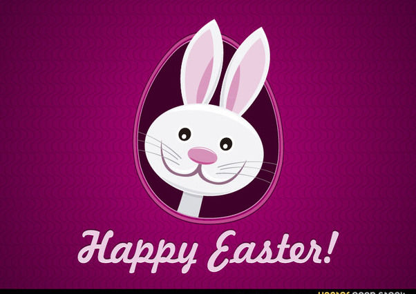 Happy Easter Funny Bunny - Free vector #167639