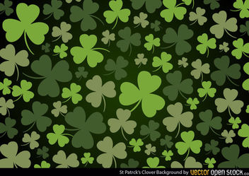 St Patrick's Clover Background - vector gratuit #167649