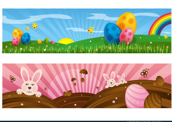Easter Decoration Set - vector #167659 gratis