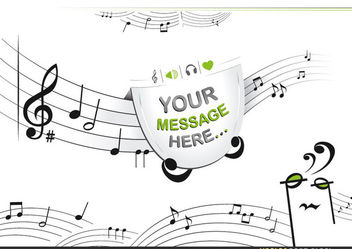 Notes Staff with message space - vector #167739 gratis