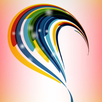 Colorful Abstract Curvy Stripes - Free vector #167759