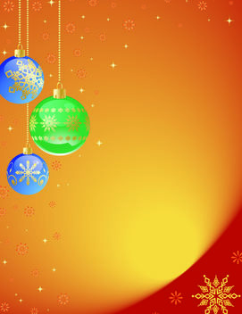 Orangey Decorated Xmas Background - vector gratuit #167849
