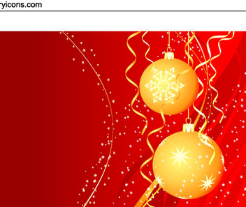 Christmas Balls with Swirly Sparkles - Free vector #167889