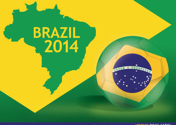Brazil 2014 Worldcup football - vector gratuit #167929