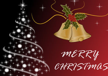 Luxurious Merry Christmas Background - Free vector #167959