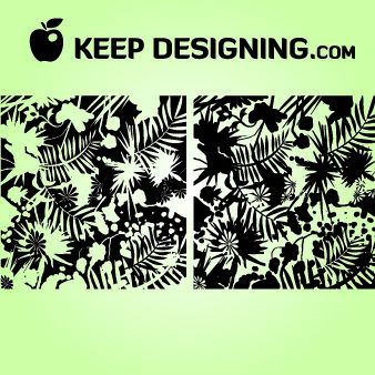Grungy Jungle Splatter Wallpaper - vector gratuit #167989