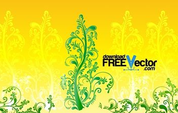 Floral Ornamental Tree - vector gratuit #168039