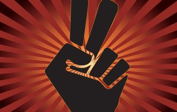 Peace and Overcome Sign with Finger - бесплатный vector #168129