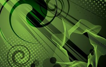Abstract Fluorescent Fern Background - vector gratuit #168149