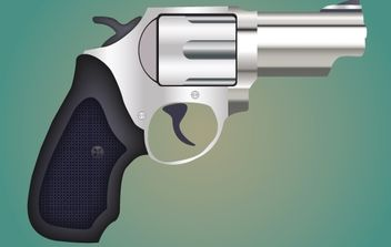 Pistol with Textured Grip - vector gratuit #168179