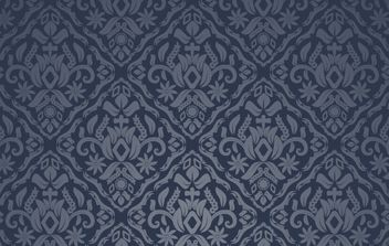 Midnight Blue Seamless Pattern - vector gratuit #168209