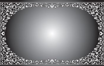Black and White Floral Frame - vector gratuit #168249