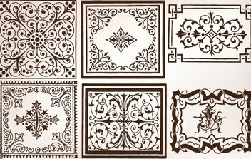 Vintage Decorative Ornamental Pattern - vector gratuit #168269