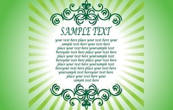 Textual Greeting Card Template - vector gratuit #168279
