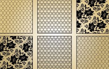 Lace and Intertwined Pattern - vector gratuit #168329