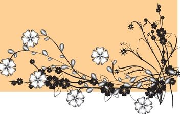Vector Flower with Buds - vector gratuit #168389