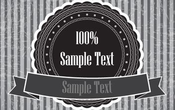 Black and white sticker banner - vector gratuit #168469