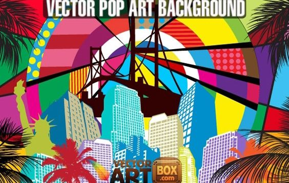 Awesome Free Vector Pop Art Style Background - Free vector #168519
