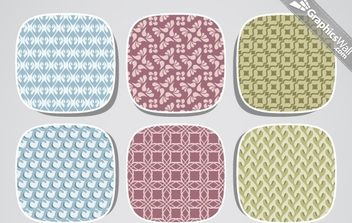 9 Fresh Seamless Vector Pattern - vector #168539 gratis