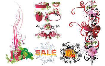 Gifts and Pattern Combination - Free vector #168579