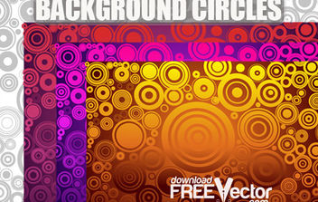 Free Vector Background Circles - vector #168679 gratis
