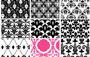 Floral Seamless Patterns - vector #168709 gratis