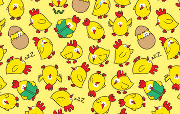 Seamless pattern chicken - Free vector #168859