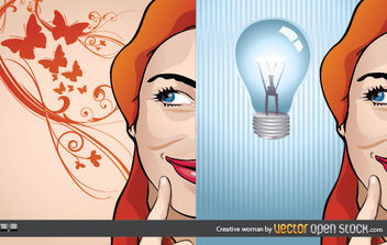 Creative Woman - Free vector #168919