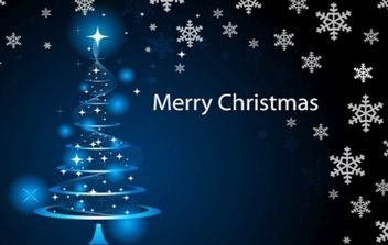 Merry Christmas Wallpaper - vector gratuit #168929
